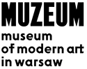 Zofia Rydet and Július Koller at the Museum of Modern Art in Warsaw