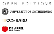 Curating Research presented by Open Editions, de Appel Arts Centre, CCS Bard and Valand Academy