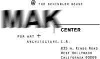 Tony Greene at MAK Center for Art and Architecture